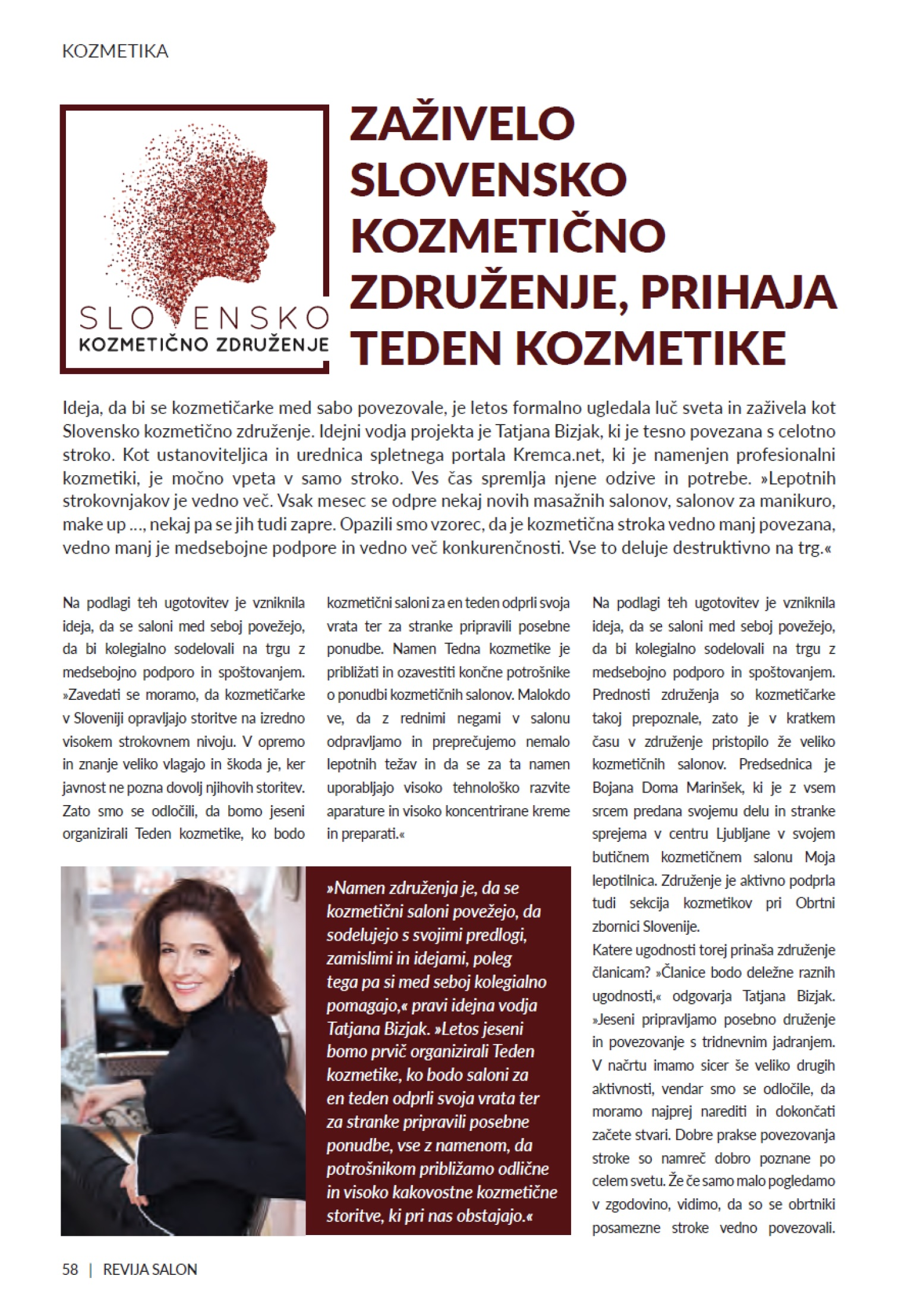 Zaživelo Slovensko kozmetično združenje