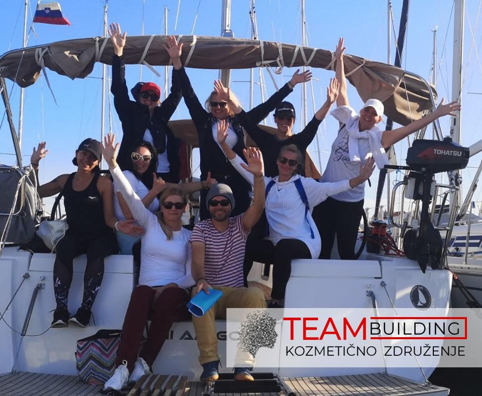 Jadranje – 2. team building kozmetičark